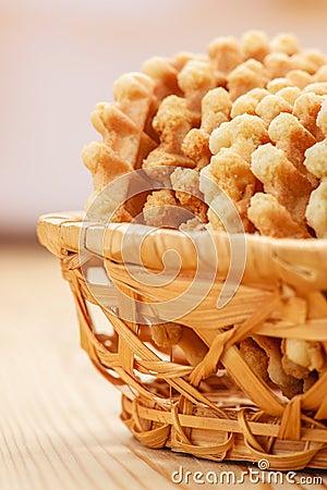Biscuits dans le vase
