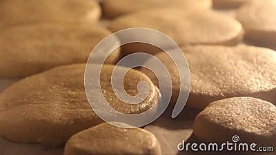 Biscuits de beurre banque de vidéos