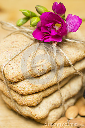 Biscuits with flower