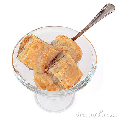 Biscuits in a glass bowl