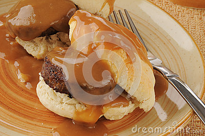 Biscuits iwth sausageand gravy