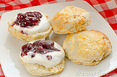 Biscuits with jam