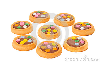 Biscuits with milk chocolate