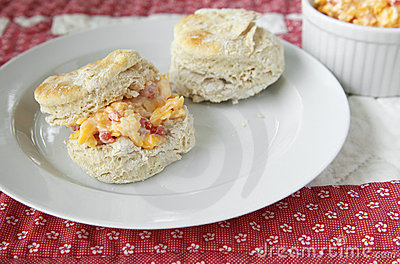 Biscuits with pimento cheese