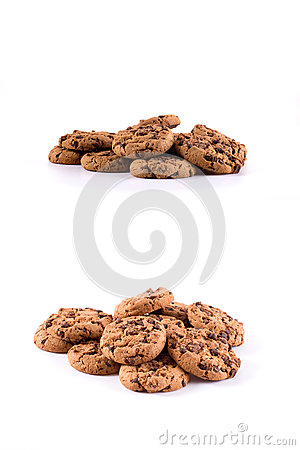 Free Biscuits With Chocolate Chips Inside Stock Photography - 61695082