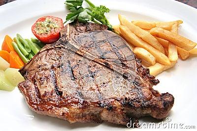 Bistecca di bistecca con l osso