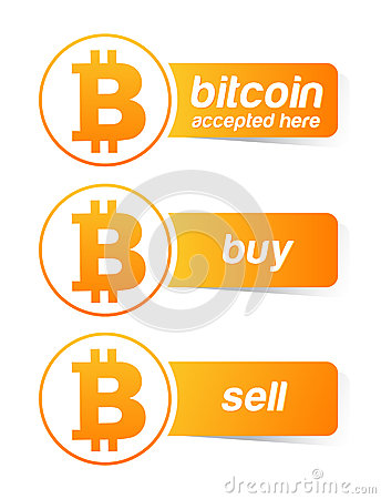 Bitcoin sticker banner set