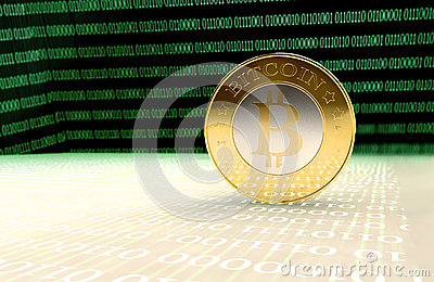 Bitcoins Editorial Stock Photo
