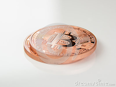 Bitcoins Editorial Stock Image
