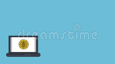 Bitcoins Transfer To Computer HD Animation Stock Footage ...