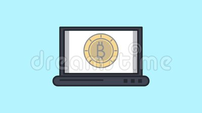 Bitcoins Transfer To Computer HD Animation Stock Video ...