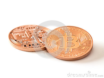 Bitcoins Editorial Stock Photo