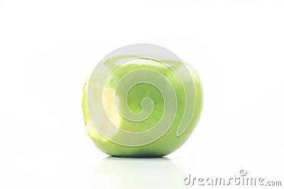 Bite apple on a white background