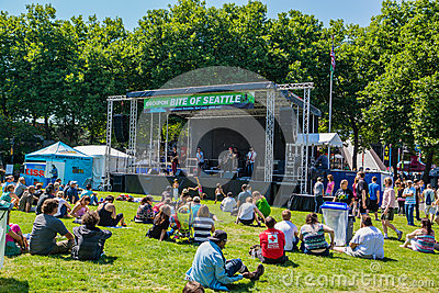 Bite of Seattle sound stage Editorial Photo