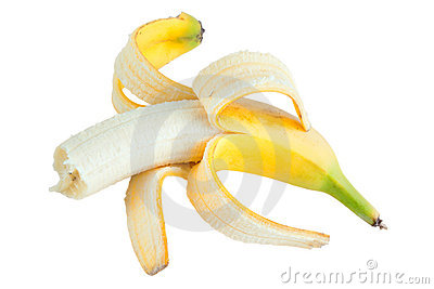 Bited banana