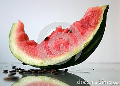 Bited off watermelon