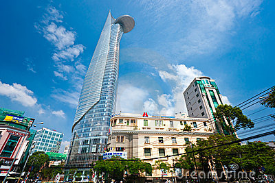 Bitexco Financial Tower , Ho chi minh city. Editorial Stock Photo
