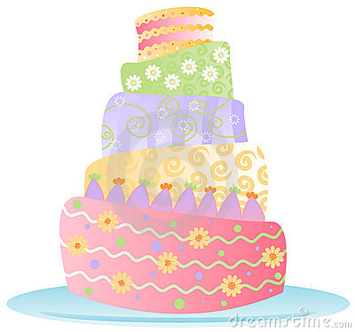 Free Bithday Cake - Isolated Royalty Free Stock Photography - 1277657