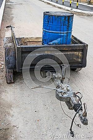 Bitumen Emulsion in Steel Drum on the trailer 2