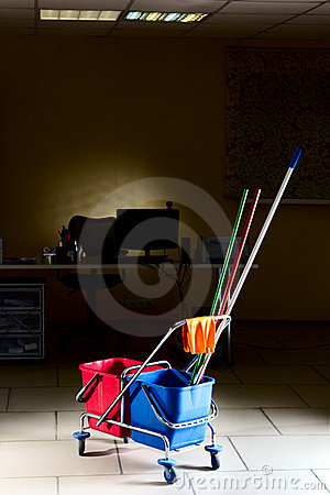Biurowy Cleaning Fotografia Stock - Obraz: 21816992