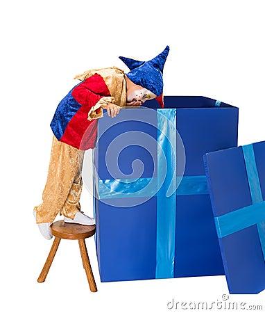 Bix surprise box with clown