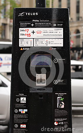 BIXI Bike Pay Station Editorial Image
