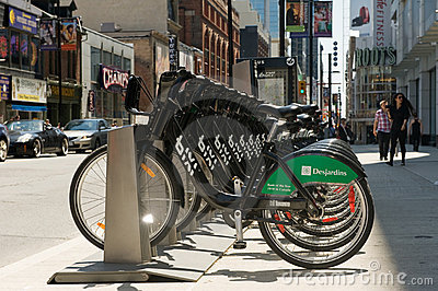 Bixi bike rental stand Editorial Stock Photo