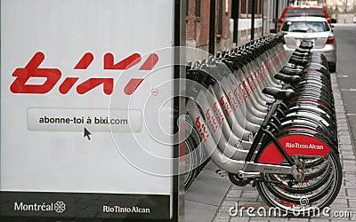 Bixi Bikes Editorial Photo