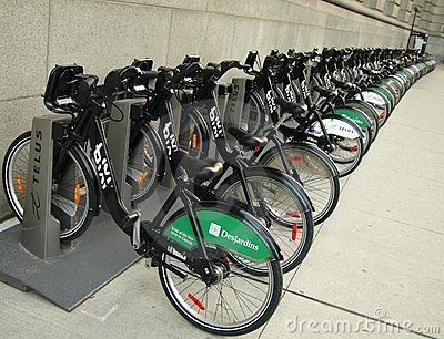 Bixi Bikes Editorial Stock Photo
