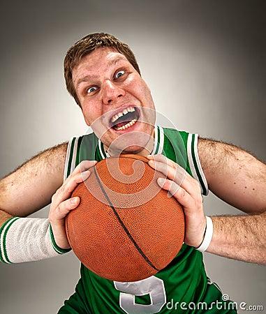 Bizarre basketball player