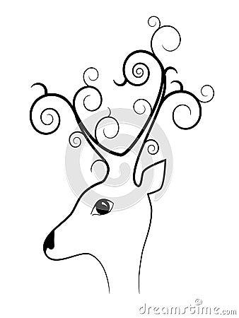 Bizarre deer
