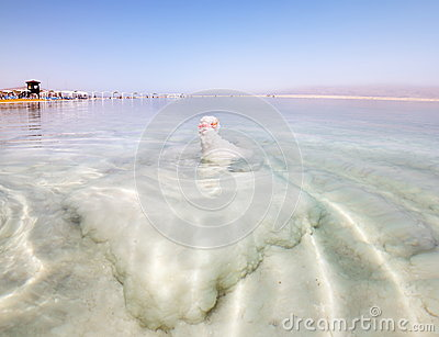 Bizarre salt formations at the dead sea in Israel