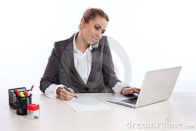 Biznes target2144_0_ biurowych telephon kobiety potomstwa