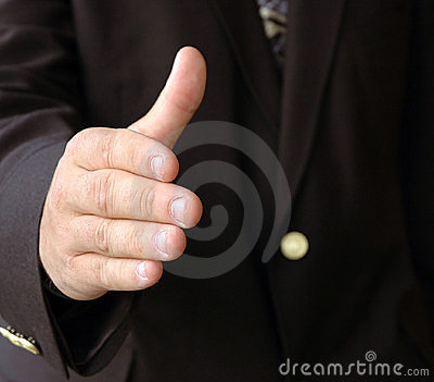 Biznesmen shake ręce