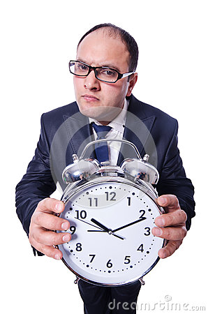 Biznesmen z zegarem