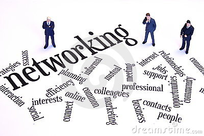 Biznesmena networking