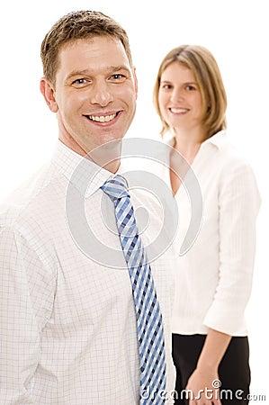 Biznesmena uśmiecha się