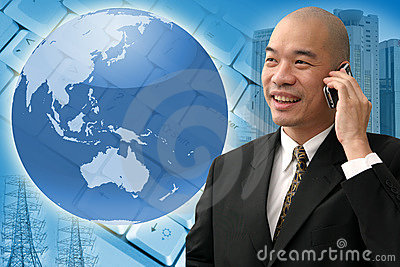 Biznesowy chiński mężczyzna
