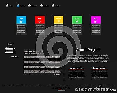 Biznesowy nowożytny strona internetowa szablon