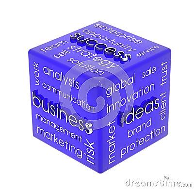 Biznesowy sześcian
