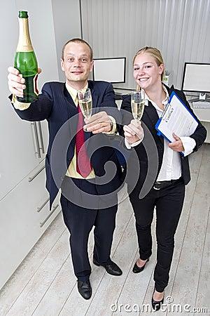 Biznesowy świętowanie