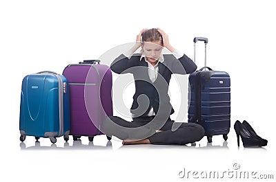 Bizneswomanu podróżowanie