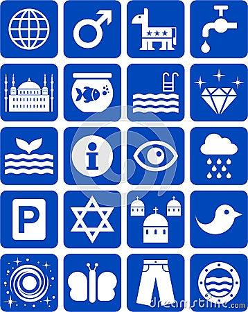 Błękitne ikony