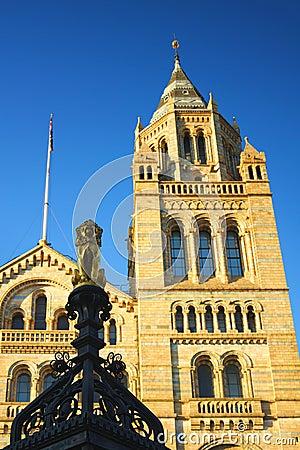 Błękitny jasnej historii London muzealny krajowy niebo