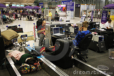 BKK airport closure Editorial Stock Photo