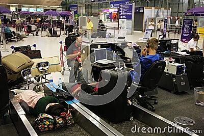 BKK airport closure Editorial Stock Photo