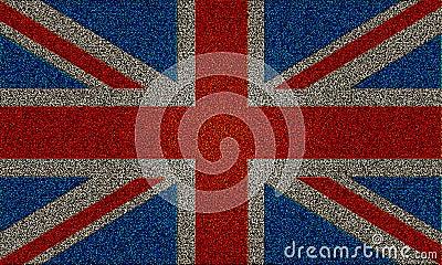 Blänka för stålarUK för effekt den fackliga flaggan