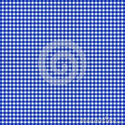 Blå gingham