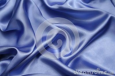 Blå satäng