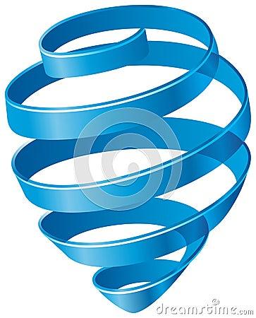 Blå spiral